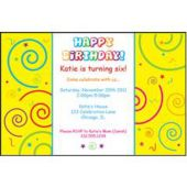 Confetti Birthday Personalized Invitations