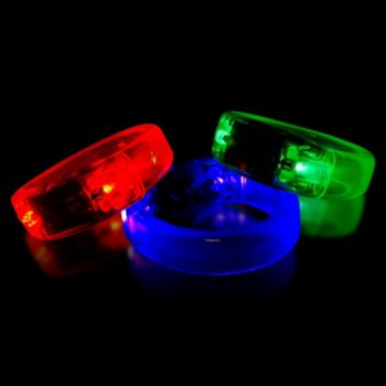 Multi-Color LED Bangle Bracelets - 12 Pack