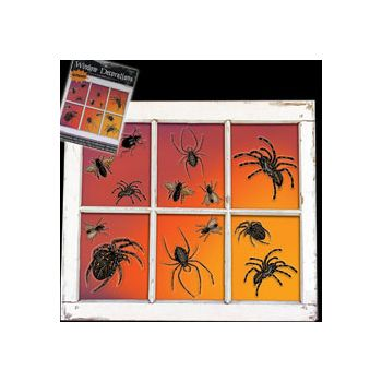 SPIDER WINDOW DECORATIONS