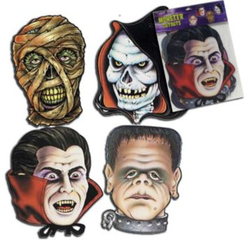 MONSTER HEAD CUTOUTS