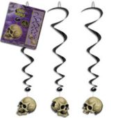 Skull Whirl Decorations-5 Pack