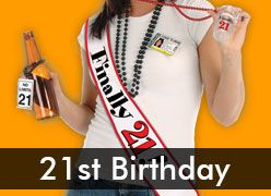 21st Party Decorations, Party Supplies & Accessories