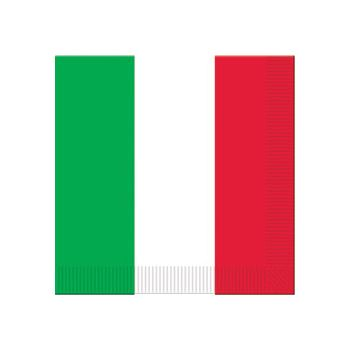 RED WHITE GREEN LUNCH NAPKINS