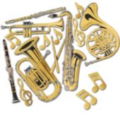 Gold Instrument Cutouts-15 Per Unit