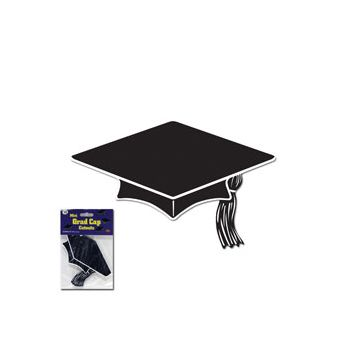GRADUATION CAP BLACK CUTOUTS