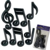 Black Music Notes-7 Per Unit