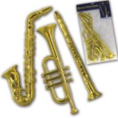 Gold Musical Decorations-3 Per Unit