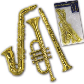 GOLD MUSICAL DECORATIONS