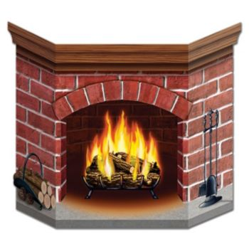 BRICK FIREPLACE CARDBOARD
