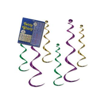 Mardi Gras  Twirly Whirls