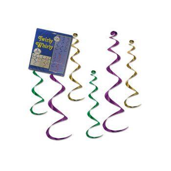 Mardi Gras  Twirly Whirls
