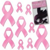 10 Pack Pink Ribbon Cutouts