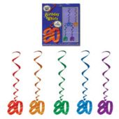 80 Whirl Decorations-5 Pack