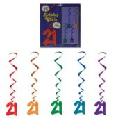 21 Whirl Decorations-5 Pack
