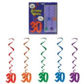 30 Whirl Decorations-5 Pack