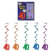 40 Whirl Decorations-5 Per Unit