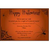 Spider Web Personalized Invitations