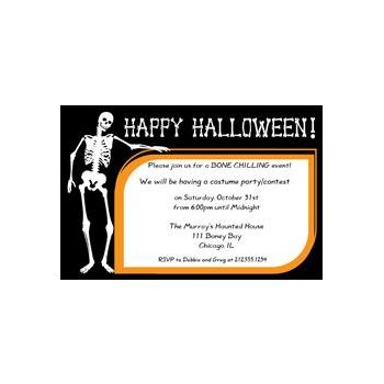 Halloween Bones Custom Invitations