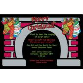 Christmas Fireplace Personalized Invitations