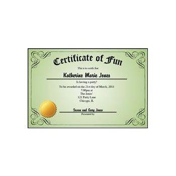 Certificate Green