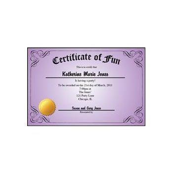 Certificate Purple