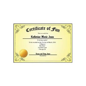 Certificate Yellow