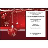 Red Christmas  Personalized Invitations