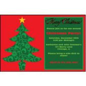 Ornate Christmas Tree   Personalized Invitations