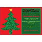 Ornate Christmas Tree   Personalized Invitations