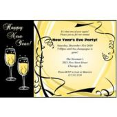 Champagne New Years Personalized Invitations