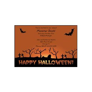 Graveyard Terror Personalized Invitations