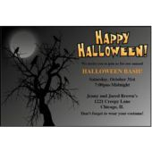 Halloween Tree Personalized Invitations