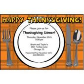 thanksgiving Plate Personalized Invitations