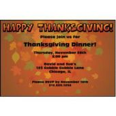 thanksgiving Leaves Personalized Invitations