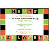 Halloween Squares Personalized Invitations