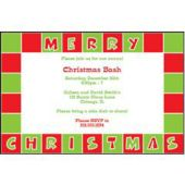 Christmas Squares Personalized Invitations