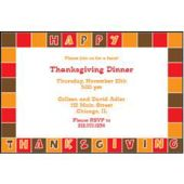 Thanksgiving Color Squares Personalized Invitations