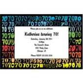 Colorful Seventy Personalized Invitations