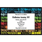 Colorful Ninety Personalized Invitations