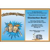 Oktoberfest Beer Steins Personalized Invitations