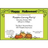 Pumpkin Halloween Personalized Invitations