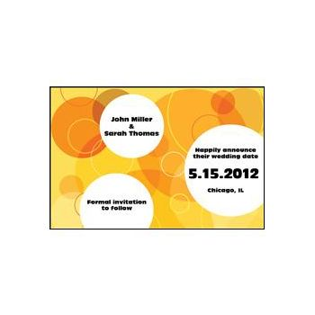 Yellow Circles Personalized Invitations