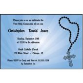 Religious Blue Personalized Invitations