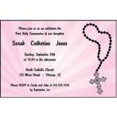 Religious Pink Personalized Invitations