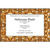 Orange Stars & Swirls Personalized Invitations