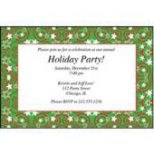 Christmas Stars & Swirls Personalized Invitations