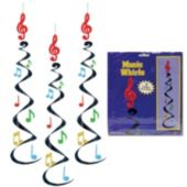 Musical Note Whirl Decoration-3 Pack