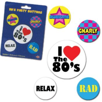 Totally 80's Pins
