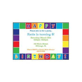 Happy bday Color Squares