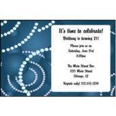 Geometric Blue Circles Personalized Invitations